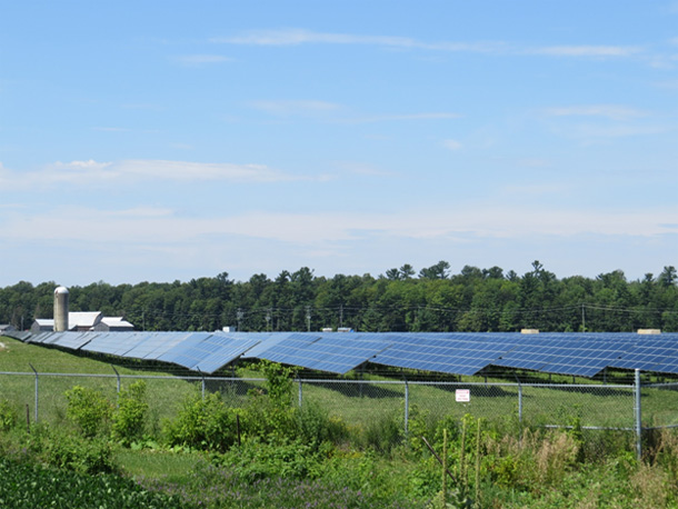 The Arnprior Solar Farm near Galetta, Ontario consists of 312,000 solar panels covering 81 hectares of what was previously farmland.